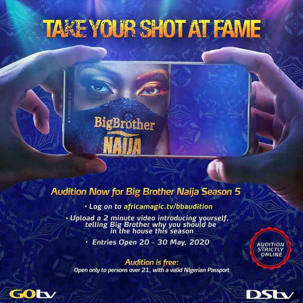 How To Audition For Big Brother Naija Season 5 bbnaija season 5